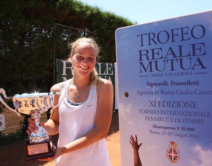 E' l'italiana Ludmilla Samsonova la vincitrice dell'XI edizione del Torneo Internazionale Femminile ITF.