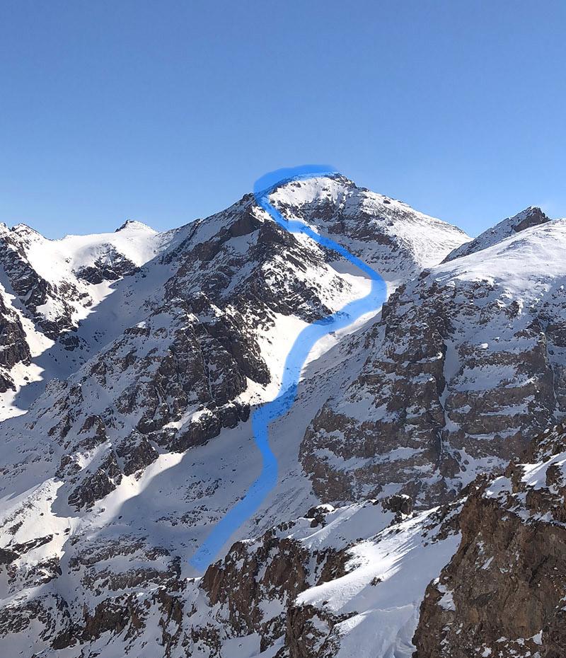 Corrado Grillo in vetta al monte Toubkal ( MT.4167)