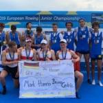 Giorgio Battigaglia è medaglia di bronzo agli Europei di canottaggio