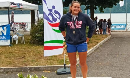 L'atleta della Tevere Remo seconda assoluta alle gare nazionali di velocità K1 di canoa kayak sui 500 metri
